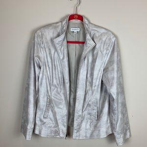 Susan Graver Faux Suede Jacket